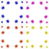 Floral ζωηρόχρωμο σύνολο υποβάθρου σχεδίων στοκ εικόνα με δικαίωμα ελεύθερης χρήσης