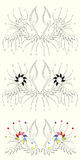floral διάνυσμα σχεδίου Στοκ εικόνα με δικαίωμα ελεύθερης χρήσης