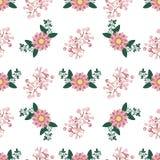 Floral διάνυσμα σχεδίων στεφανιών άνευ ραφής Στοκ Εικόνες