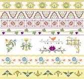 Floral διαιρέτες, σύνορα, και περιποίηση Στοκ φωτογραφίες με δικαίωμα ελεύθερης χρήσης