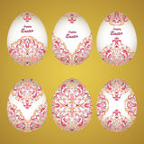 Floral διακοσμητικά αυγά Στοκ φωτογραφίες με δικαίωμα ελεύθερης χρήσης