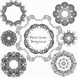 floral διακοσμητικός κύκλος προτύπων διακοσμήσεις που τίθεν&t Διάνυσμα illustrat Στοκ φωτογραφία με δικαίωμα ελεύθερης χρήσης