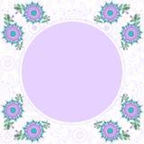 Floral διακοσμητικό πλαίσιο με τη θέση για το κείμενο Στοκ Φωτογραφίες