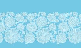 Floral διακοσμητικό σχέδιο συνόρων λαϊκός-ύφους διανυσματική απεικόνιση