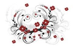 floral διακόσμηση ανασκόπησης Στοκ Εικόνα