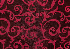 Floral διακόσμηση, διακόσμηση στο μπαρόκ ύφος Στοκ Φωτογραφία