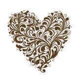Floral διακόσμηση, μορφή καρδιών για το σχέδιό σας Στοκ εικόνα με δικαίωμα ελεύθερης χρήσης