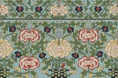 Floral διακόσμηση παραδοσιακού κινέζικου Στοκ Εικόνα