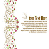 floral διακόσμηση Πρότυπο για την πρόσκληση ή την κάρτα Στοκ φωτογραφίες με δικαίωμα ελεύθερης χρήσης