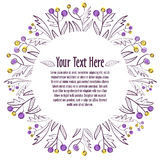 floral διακόσμηση Πρότυπο για την πρόσκληση ή την κάρτα Στοκ Φωτογραφίες