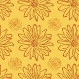 Floral διακόσμηση σε ένα ελαφρύ υπόβαθρο, άνευ ραφής σχέδιο Στοκ Εικόνα