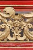 floral διακόσμηση στον κινεζικό αρχαίο ναό, Chengde, Κίνα Στοκ Εικόνες