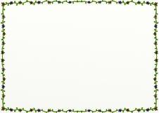 Floral διακόσμηση συνόρων σελίδων Doodle ελεύθερη απεικόνιση δικαιώματος