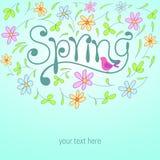 Floral διανυσματική απεικόνιση ανοίξεων Στοκ εικόνες με δικαίωμα ελεύθερης χρήσης