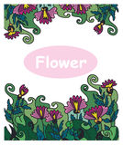 Floral διανυσματικό γαρίφαλο σχεδίων διακοσμήσεων Στοκ φωτογραφία με δικαίωμα ελεύθερης χρήσης