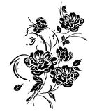 Floral διανυσματικό στοιχείο σχεδίου Στοκ Φωτογραφίες