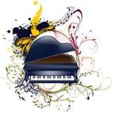 Floral διανυσματικό σχέδιο πιάνων Στοκ Εικόνα