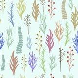 Floral διανυσματικό σχέδιο, σύσταση με τα λουλούδια Στοκ Εικόνες