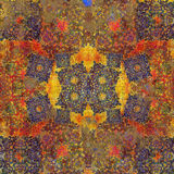 Floral ινδικό μοτίβο σχεδίου Στοκ Εικόνα