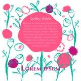 Floral κάρτα αφισών Διανυσματική απεικόνιση