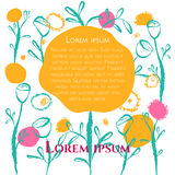 Floral κάρτα αφισών Απεικόνιση αποθεμάτων