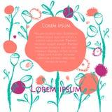 Floral κάρτα αφισών Ελεύθερη απεικόνιση δικαιώματος
