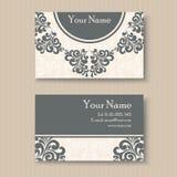 Floral κάρτα επιχειρήσεων ή επίσκεψης απεικόνιση αποθεμάτων