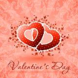 Floral κάρτα ημέρας του ευτυχούς βαλεντίνου Στοκ Εικόνες