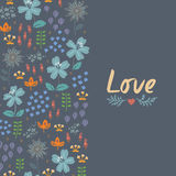 Floral κάρτα με την καρδιά Στοκ φωτογραφίες με δικαίωμα ελεύθερης χρήσης