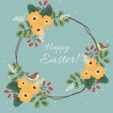 Floral κάρτα Πάσχας ελεύθερη απεικόνιση δικαιώματος