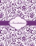 Floral κάρτα πρόσκλησης απεικόνιση αποθεμάτων