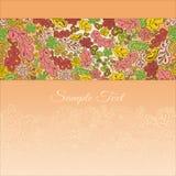 Floral κάρτα doodle Στοκ εικόνες με δικαίωμα ελεύθερης χρήσης