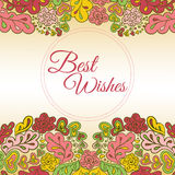 Floral κάρτα doodle Στοκ Εικόνες