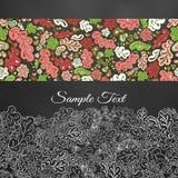Floral κάρτα doodle Στοκ φωτογραφίες με δικαίωμα ελεύθερης χρήσης