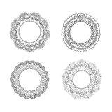 floral καθορισμένος διανυσματικός τρύγος απεικόνισης πλαισίων Στοκ Φωτογραφίες