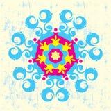 Floral και γεωμετρική απεικόνιση απεικόνιση αποθεμάτων