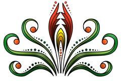 Floral και διακοσμητικό υπόβαθρο Στοκ Εικόνες