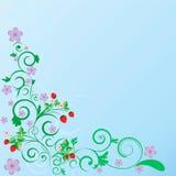 floral καλοκαίρι προτύπων μπουκλών Ελεύθερη απεικόνιση δικαιώματος