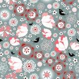 floral καλοκαίρι προτύπων διανυσματική απεικόνιση