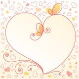 floral καρδιά ανασκόπησης ρομαντική Στοκ Εικόνες