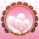 floral καρδιά ανασκόπησης Στοκ Εικόνα