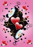 floral καρδιά ανασκόπησης Στοκ Εικόνες