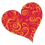 floral καρδιά σχεδίου Στοκ εικόνα με δικαίωμα ελεύθερης χρήσης
