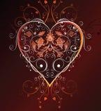 floral καρδιά σχεδίου Στοκ Φωτογραφίες