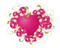 floral καρδιά Στοκ εικόνες με δικαίωμα ελεύθερης χρήσης