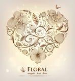floral καρδιά Στοκ εικόνα με δικαίωμα ελεύθερης χρήσης