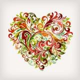 floral καρδιά διανυσματική απεικόνιση