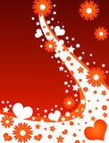 floral καρδιές σχεδίου Στοκ φωτογραφία με δικαίωμα ελεύθερης χρήσης