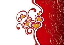 floral καρδιές Στοκ εικόνες με δικαίωμα ελεύθερης χρήσης