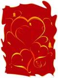 floral καρδιές Στοκ Εικόνα